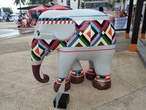 Ceramic White Elephant stock photo