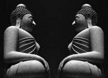 Phuket Buddha Grey. An image of the big buddha in Phuket Thailand with a black background stock images