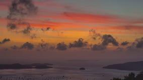 Phuket  buddha mountain beach sunrise panorama 4k time lapse thailand stock video footage