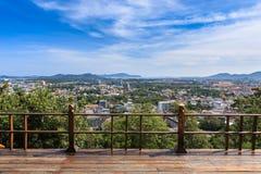 Phuket city view point at Rang hill, Thailand Royalty Free Stock Photo