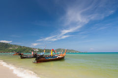 Phuket. Clear sky day at Phuket beach, south of Thailand Royalty Free Stock Images