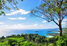 Phuket coast. From bird eye view Stock Photos