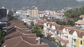 Phuket contiene el hogar tailandés del camino del bangla de Asia Tailandia de la calle almacen de video