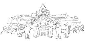 Phuket Fantasea Palace Theatre with Elephants Stock Photo
