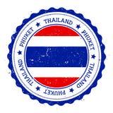 Phuket flaggaemblem Royaltyfri Fotografi