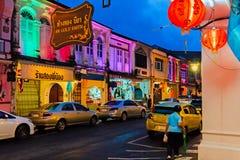 Phuket gammal stad fotografering för bildbyråer