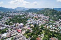 Phuket gammal stad med gamla byggnader Royaltyfri Foto