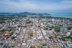 Phuket gammal stad med gamla byggnader Royaltyfria Bilder