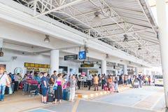 Phuket internationell flygplats på DECEMBER 16, 2015 Royaltyfria Foton