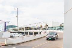 Phuket internationell flygplats på DECEMBER 16, 2015 Arkivfoto