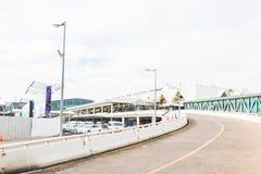 Phuket internationell flygplats på DECEMBER 16, 2015 Arkivbilder