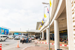Phuket internationell flygplats på DECEMBER 16, 2015 Royaltyfri Bild