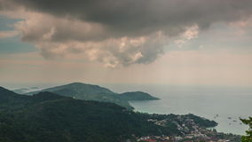 Phuket island bay observation deck panorama 4k time lapse thailand stock footage