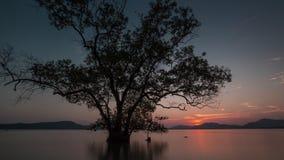 Phuket island beautiful sunset beach panorama 4k time lapse thailand stock footage