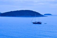 Phuket island with boat, Thailand Stock Image