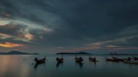 Phuket island rawai beach sunrise panorama 4k time lapse thailand stock video footage