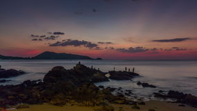Phuket island sunset day patong beach panorama 4k time lapse thailand