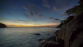 Phuket island sunset sunrise panorama 4k time lapse thailand stock footage