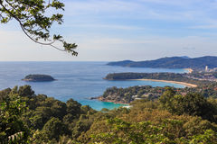 Phuket Island view point, Kata Karon Patong Beach Royalty Free Stock Image