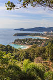 Phuket Island view point, Kata Karon Patong Beach Royalty Free Stock Photography