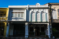 Phuket  - 15 JUL 2016  Building in Sino Portuguese style Royalty Free Stock Images