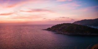 Phuket landscape in sunset Stock Images