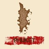 Phuket martwił mapę Fotografia Royalty Free