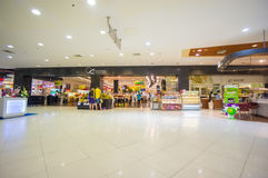Phuket, 22 May 2014: First floor of Central Festival with food m Royalty Free Stock Photo