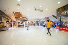 Phuket, 22 May 2014: First floor of Central Festival mall with f. Ood court and escalators at Phuket Town, Phuket province, Thailand Stock Image