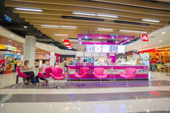 Phuket, 22 May 2014: First floor of Central Festival mall JoobJo. Ob cafe at Phuket Town, Phuket province, Thailand Stock Images