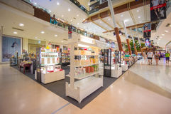 Phuket, 22 May 2014: First floor of Central Festival mall with p. Arfum and cosmetics stores at Phuket Town, Phuket province, Thailand Stock Photo