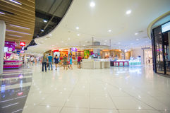 Phuket, 22 May 2014: First floor of Central Festival mall with t. Ourist information stand at Phuket Town, Phuket province, Thailand Stock Photos