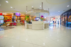 Phuket, 22 May 2014: First floor of Central Festival mall with t Royalty Free Stock Images