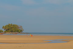 Phuket nai yang beach at low tide Royalty Free Stock Images