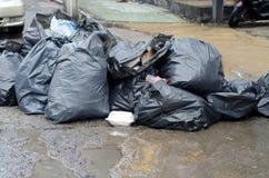 Phuket - October 27 : Garbage piled on Bangla road October 27, 2 Royalty Free Stock Photo