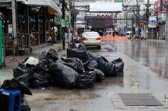 Phuket - October 27 : Garbage piled on Bangla road October 27, 2 Stock Image