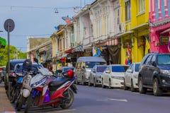 Phuket old town. Attractions Phuket old town street Stock Photo