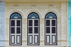 Phuket Old Town Chino Portuguese Style Building. Stock Photo