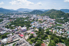 Phuket old town with old buildings Royalty Free Stock Photo