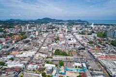 Phuket old town with old buildings Stock Photography