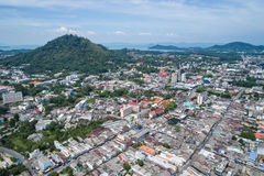 Phuket old town with old buildings Stock Photo