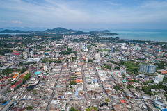 Phuket old town with old buildings Royalty Free Stock Images