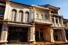 Phuket old town Royalty Free Stock Photo