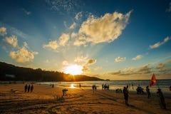 Phuket-Patong beach-October 20,2017, Phuket, Thailand stock photo