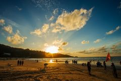 Phuket-Patong praia-outubro 20,2017, Phuket, Tailândia Foto de Stock