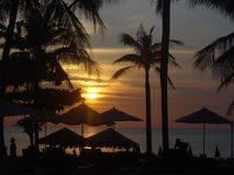 phuket solnedgång thailand royaltyfria foton