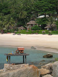 Phuket - Spirit house on the beach Royalty Free Stock Photos