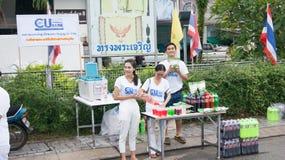 PHUKET STAD - OKTOBER 7: Ett foto av folk ståtar in, bekant lokalt som Phuket den vegetariska festivalen, på Oktober 7, 2016 i de Royaltyfri Fotografi