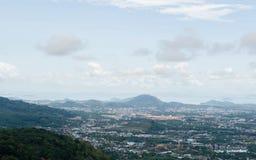 Phuket stadsscape, Thailand Arkivbild