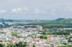 Phuket stadsscape, Thailand Royaltyfria Foton
